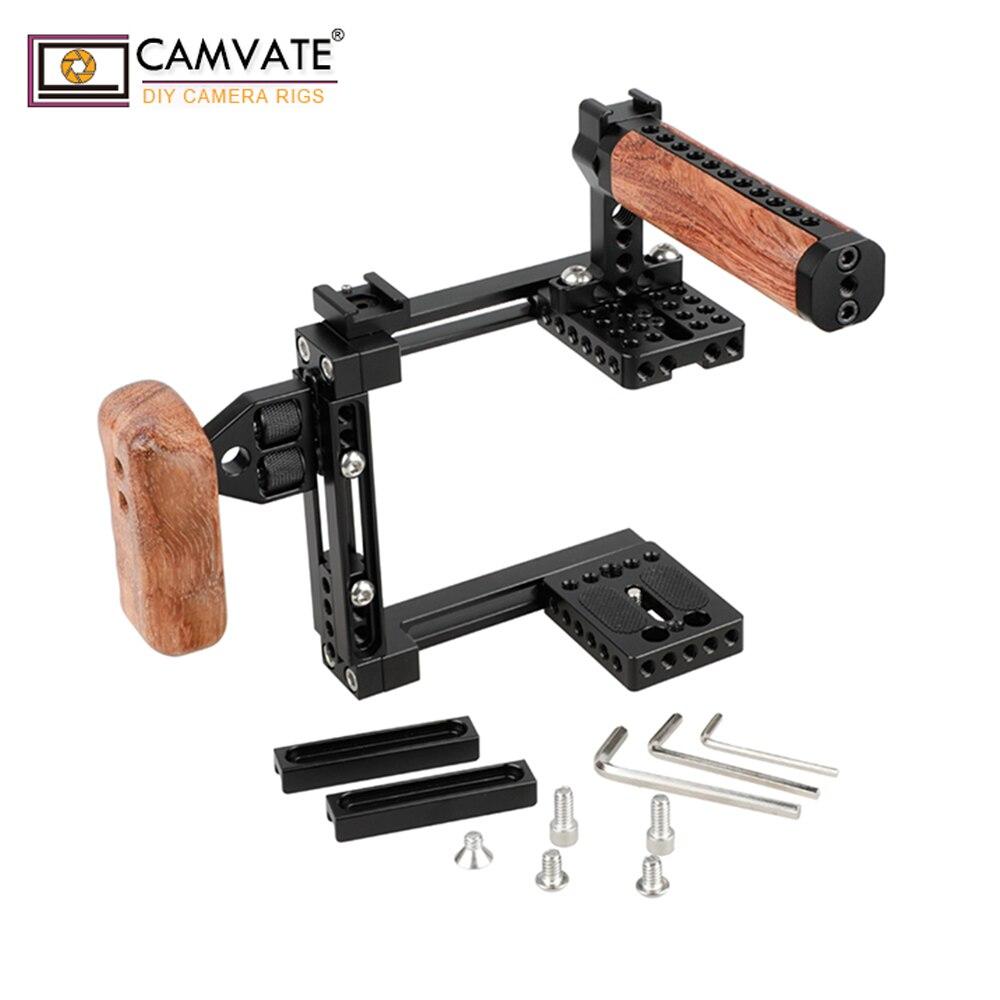 CAMVATE A Duplice uso Regolabile Cage Kit (Universale) C1726 macchina fotografica accessori per la fotografiaCAMVATE A Duplice uso Regolabile Cage Kit (Universale) C1726 macchina fotografica accessori per la fotografia