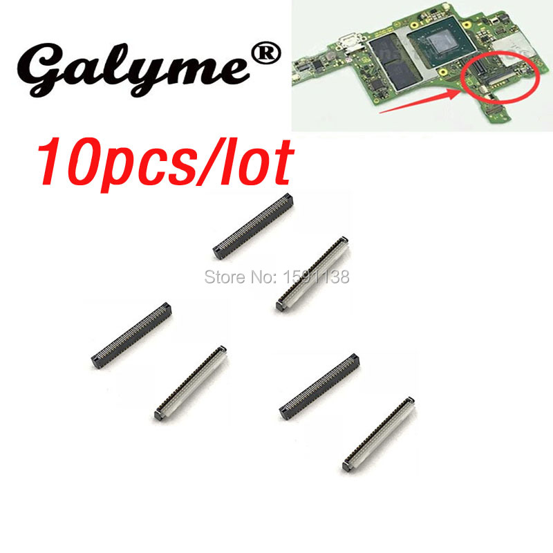 10pcslot New Fit For Nintendo Switch NS Motherboard to Lcd Display screen flex cable clip ribbon connector socket Game console