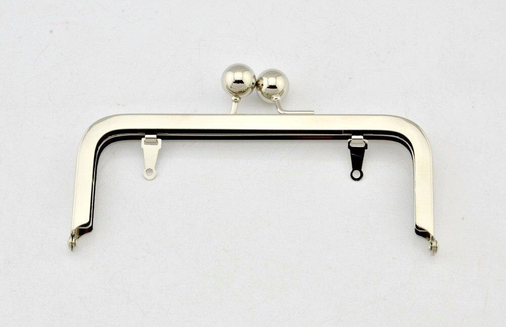 Size 15.5*6 Cm With 1.6 Cm Big Clasp Silver Color Metal Purse Handle Bag Parts Fashion Metal Purse Frame Wholesale Drop Ship