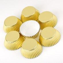 100 個ミニカップケーキライナー紙ケーキベーキングカップマフィンケースケーキクリスマス Wending ツール