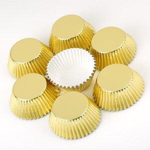 Image 1 - 100 pçs mini cupcake forros bolo de papel cozimento copo muffin casos natal wending ferramentas