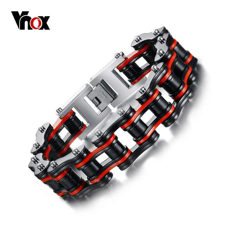 Vnox Men's Motor Bike Chain Motorcycle Chain Bracelet Bangle Male Stainless Steel Jewelry Drop Shipping