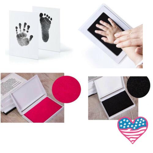 Cute Inkless Wipe Baby Kit-Hand Foot Print Keepsake Newborn Footprint Handprint DIY Decorations Mess Free Stamp Pads For Babies
