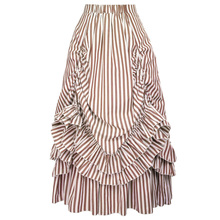 5f2b898bb Grace Karin Women Retro Vintage Gothic Style Cotton Black White Stripes  Bustle Skirt