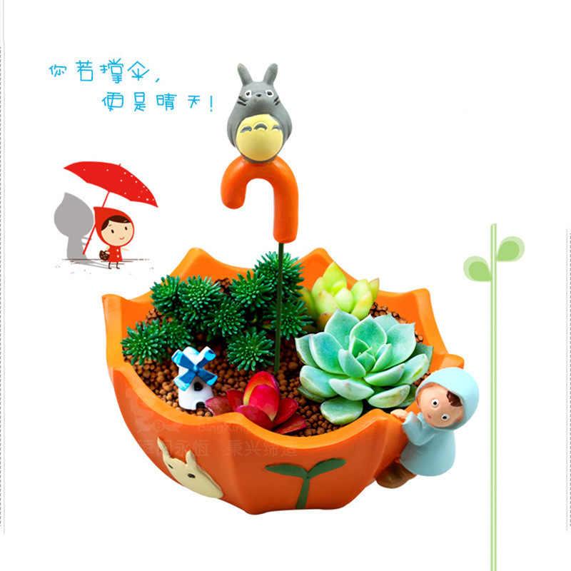 งานฝีมือเรซิ่น Creative Desktop Potted เครื่องประดับการ์ตูน Chinchillas เนื้อร่มขนาดเล็กเรซิ่นกระถางดอกไม้เนื้อ