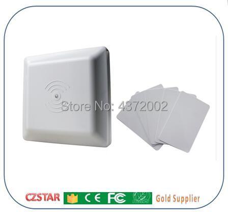 1-6 m long moyen gamme lire tag UHF RFID lecteur de carte 6 m longue distance gamme avec rs232 wiegand rs485 interface