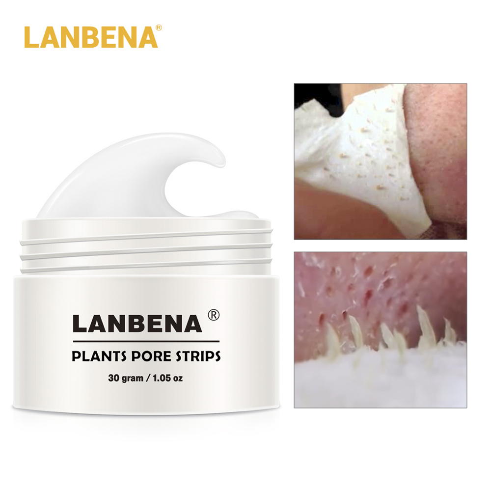 LANBENA 80pc Paper Blackhead Remover Nose Mask Pore Strip Mask Peel Anti Acne Treatment Black Nose Deep Cleansing Mask Skin Care