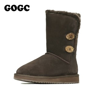 Image 3 - GOGC Womens Winter Shoes Snow Boots Womens Winter Boots with Wool Fur Comfortable Genuine Leather Womens Winter Boots 9720