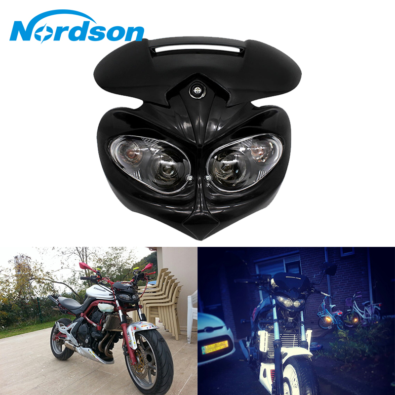 Turn Singal Indicator Street Fighter Headlight for Harley Yamaha Ducati BMW Blue