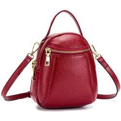Fashion Women Crossbody Bag Genuine Leather  High Quality Womens Handbags And Purses Casual Tote Bag Girls Bag Small Obag Mini