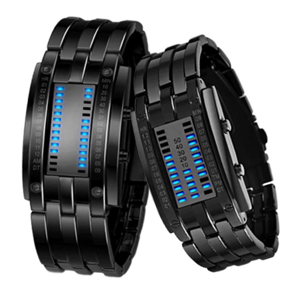 LinTimes Lovers Women Men Watches Chic Digital LED Display Watches Waterproof Couple Wristwatches For Valentine's Day
