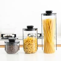Stainless Steel Glass Sealed Can Kitchen Grain Jar Storage Can Sealed Can Tea Caddy