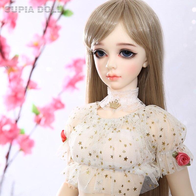 BJD SD Dolls Supia Lina Girl 1/3 Resin Firgures Fullset Fairyland Dollmore  Littlemonica Supergem With Optional Elf Ears 2