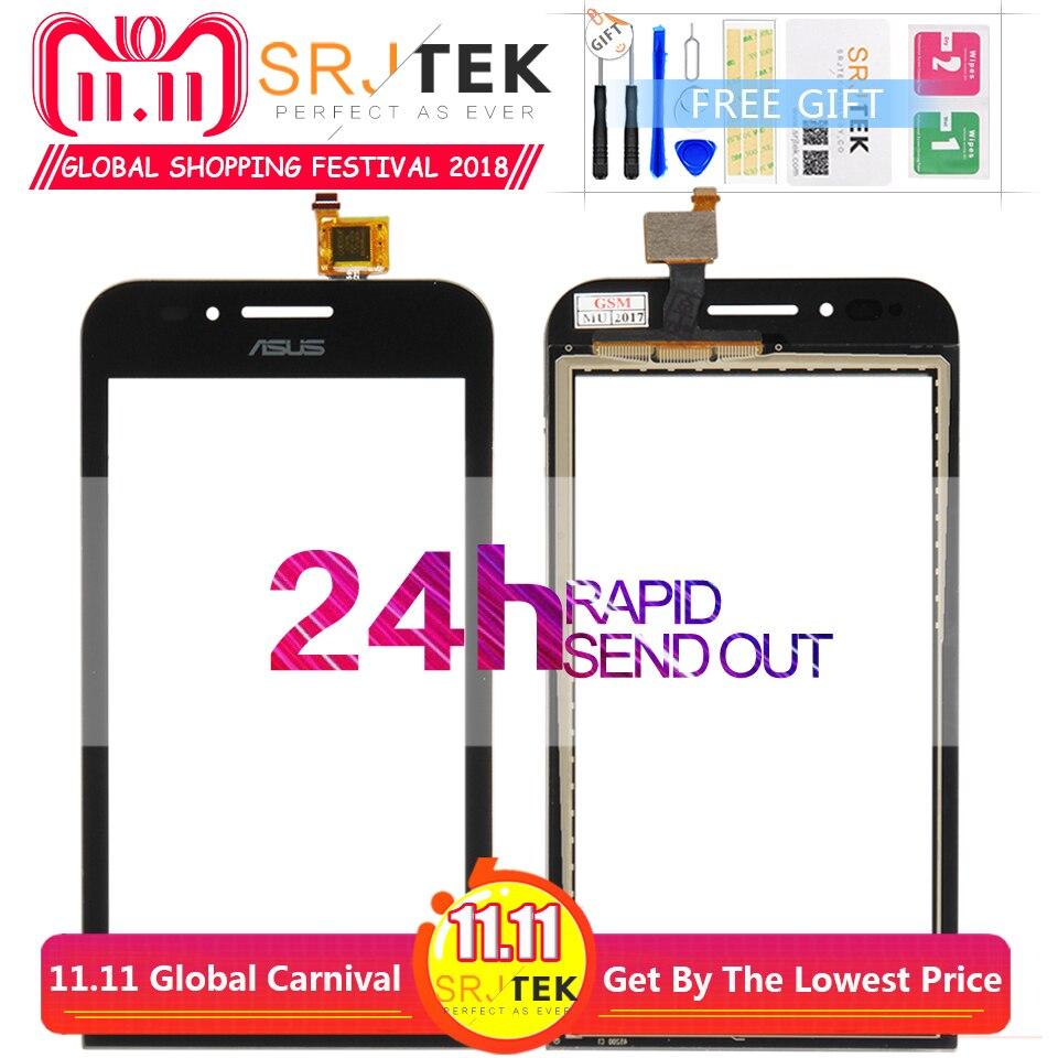 Bildschirm Für ASUS ZenFone Gehen mini ZC451TG Z00SD Touchscreen Digitizer Sensor Äußere Glas 4,5 zoll Für ASUS ZC451TG ZC 451TG Schwarz
