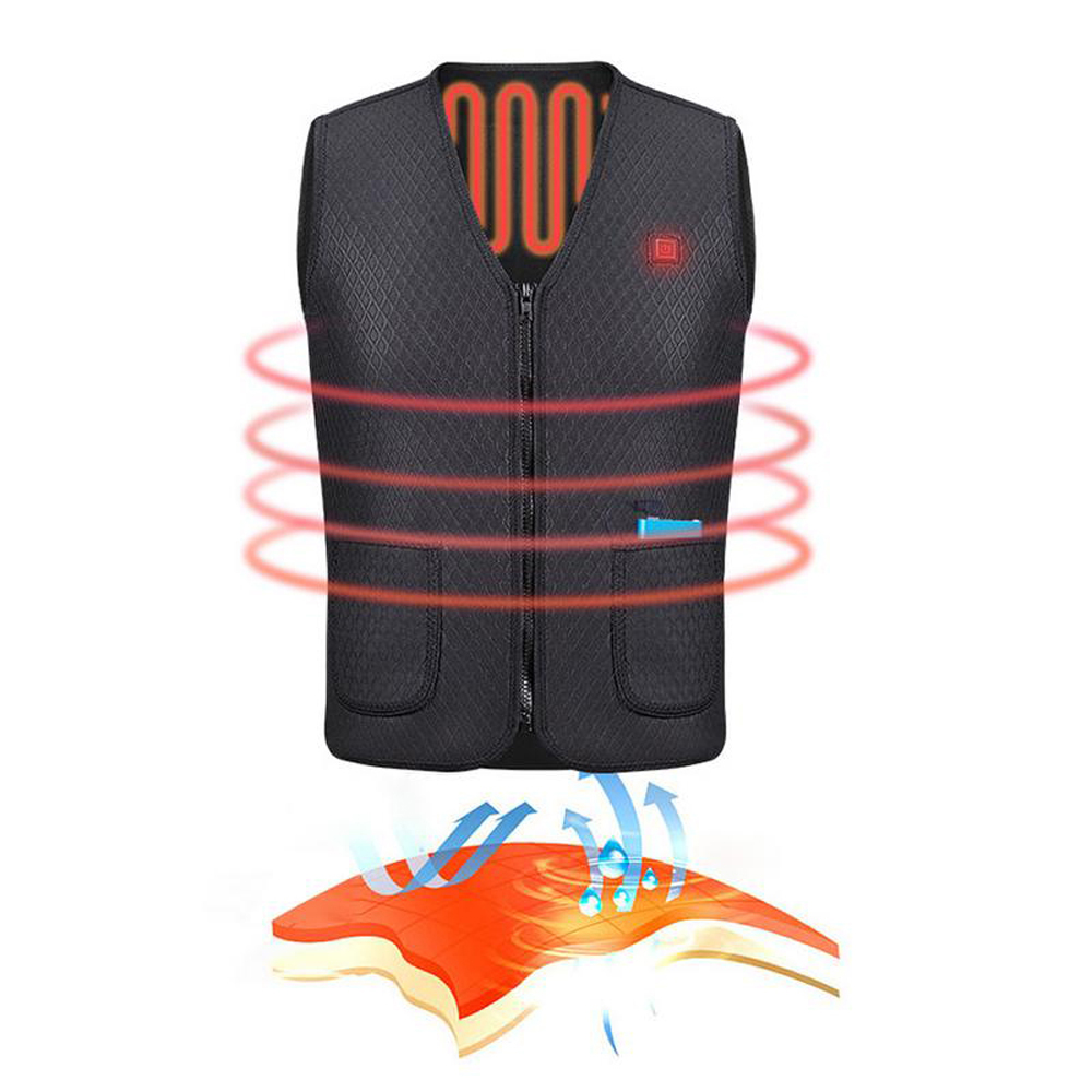 Usb Heater Electric Blankets Hunting Vest Heated Jacket Heating Winter Clothes Men Thermal Outdoor Sleeveless Vest Hiking Climb
