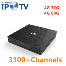 T9 Android 8.1 Tv Box USA Canada IPTV France UK arabe Espania allemagne turquie danemark Portugal Iran norvégien brésil Code chaînes(China)