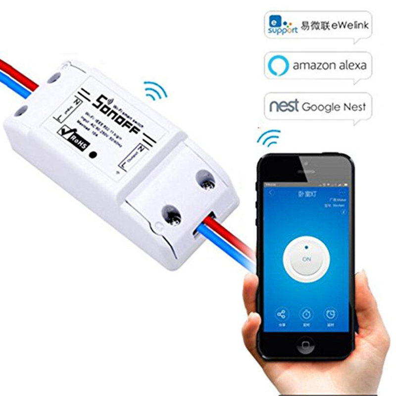 Sonoff Basic Wifi Switch Remote For Smart Home Automation Module Timer Diy Wifi Switch Universal Controller For IOS Android