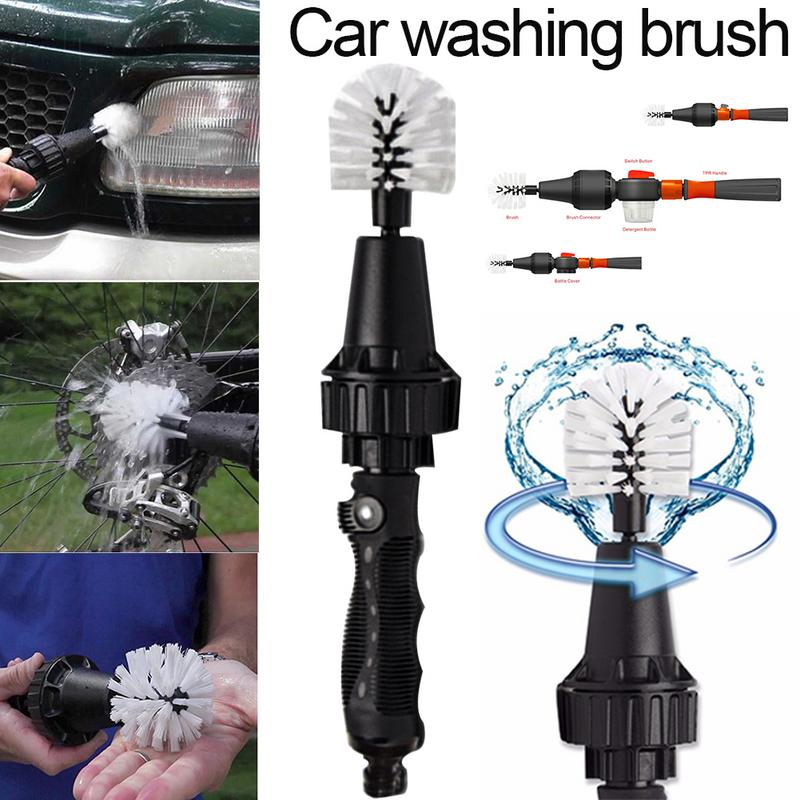 Back To Search Resultsautomobiles & Motorcycles Car Handle Washing Brush Clean Tools Water-driven Rotating Cleaning Brush For Car Motorcycle Bicycle Wheel Tire Rim Brush Engines & Engine Parts