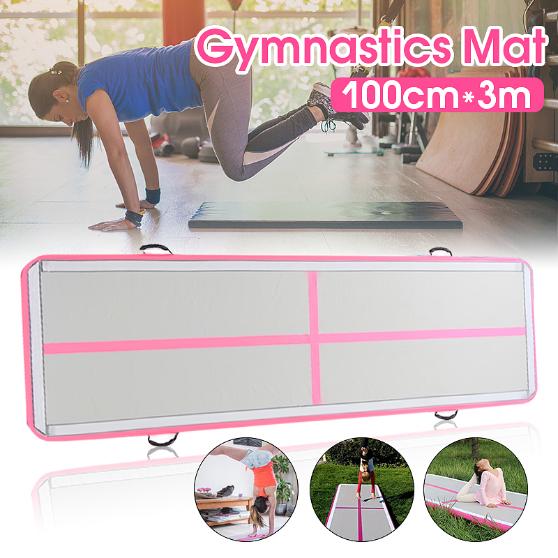 Gofun AirTrack 100x300x10cm Inflatable Tumble Track Trampoline Air Track Floor Home GYM Gymnastics Inflatable Air Tumbling Mat new arrival yoga mats 0 9 3m inflatable tumble track trampoline air track floor home gym gymnastics inflatable air tumbling mat