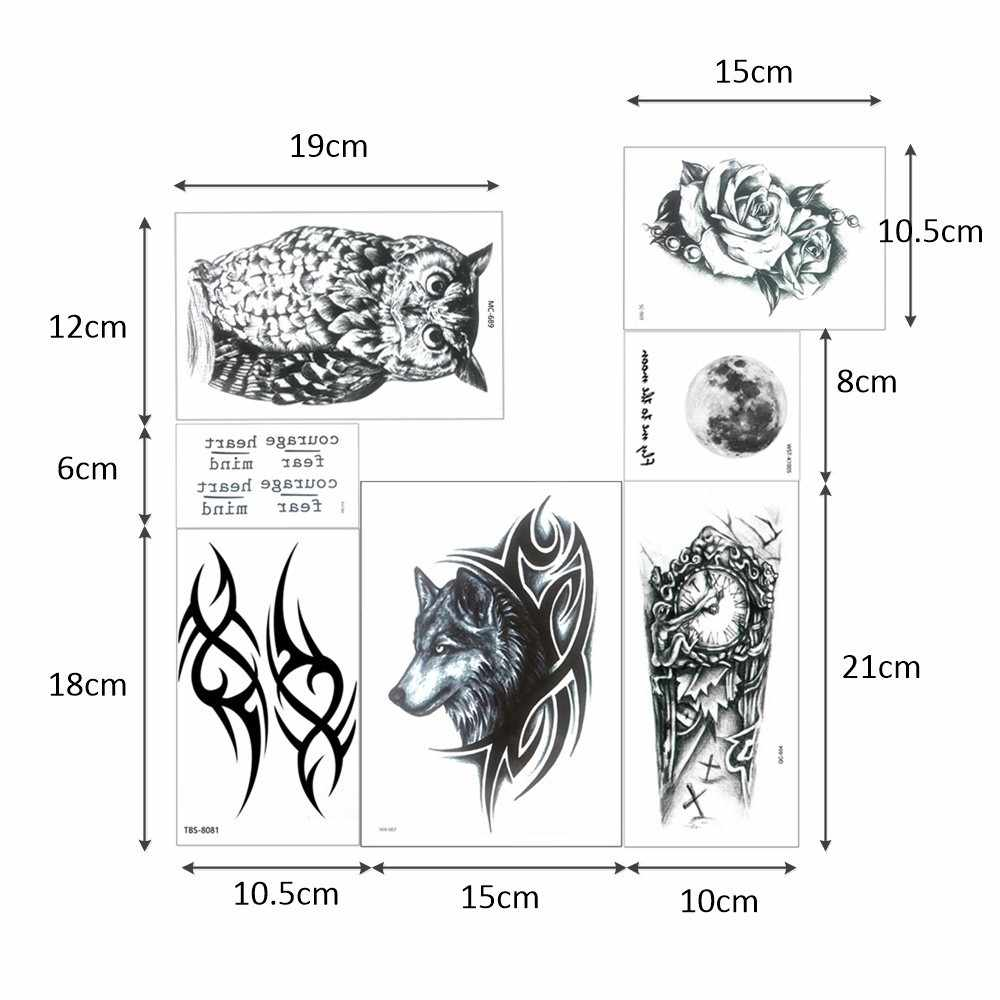 Glaryyears 1 Vel Tijdelijke Tattoo Sticker Waterdicht Hot Dieren Make-Up Kleine Body Art Voor Mannen Vrouw Mode 25 Ontwerpen
