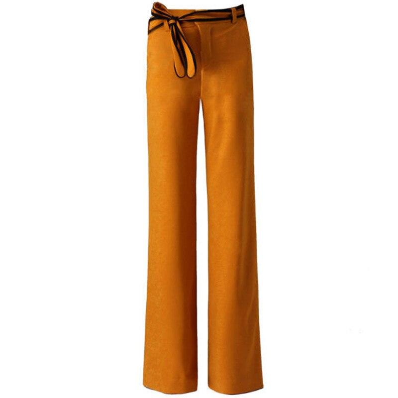 Automne Jambe Black Haute Et A2669 Femmes De D'hiver Bourgogne Cloche yellow Large Bas Pantalon Bleu Mode Noir Taille rzn8Arwxa