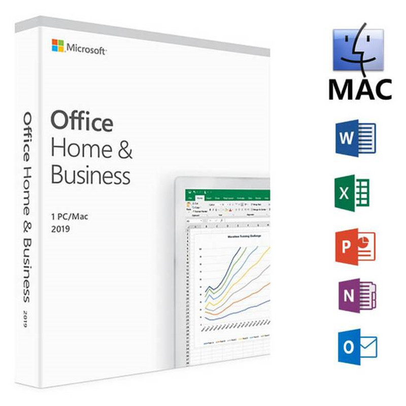 Microsoft Office Home & Business 2019 Product Key Code 1 User License Retail Boxed Compatible with Mac Windows-in Office Software from Computer & Office