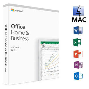 Microsoft Office Home & Business 2019 Product Key Code 1 User License Retail Boxed Compatible with Mac Windows