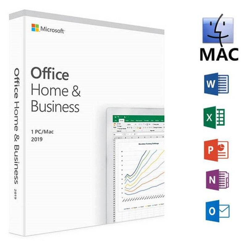 Microsoft Office для дома и бизнеса 2019 код ключа продукта 1 лицензия пользователя Розничная торговля в коробке Совместимость с Mac Windows