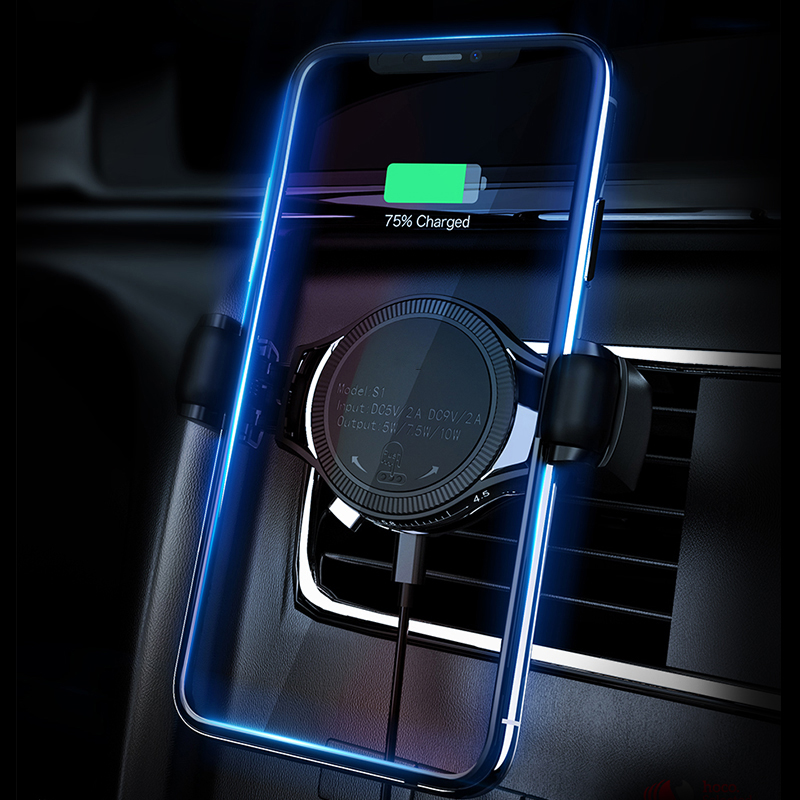 Qi Wireless Charger Phone Holder for iPhone XS Max XR X 8 Plus Samsung S10 Air