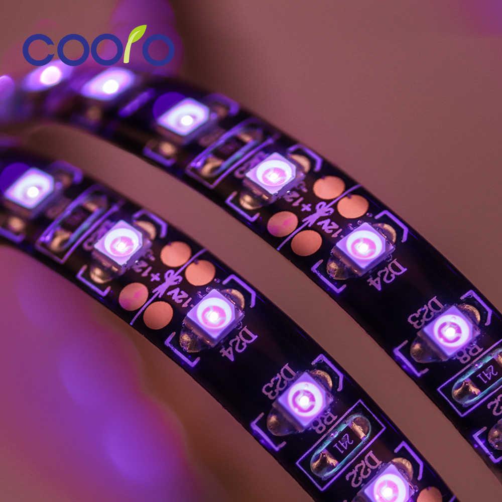3528 SMD Ультрафиолетовый Светодиодные ленты света 120 светодиодный s/m Водонепроницаемый Диодная лента для флуоресценции вечерние Подсветка DC12V