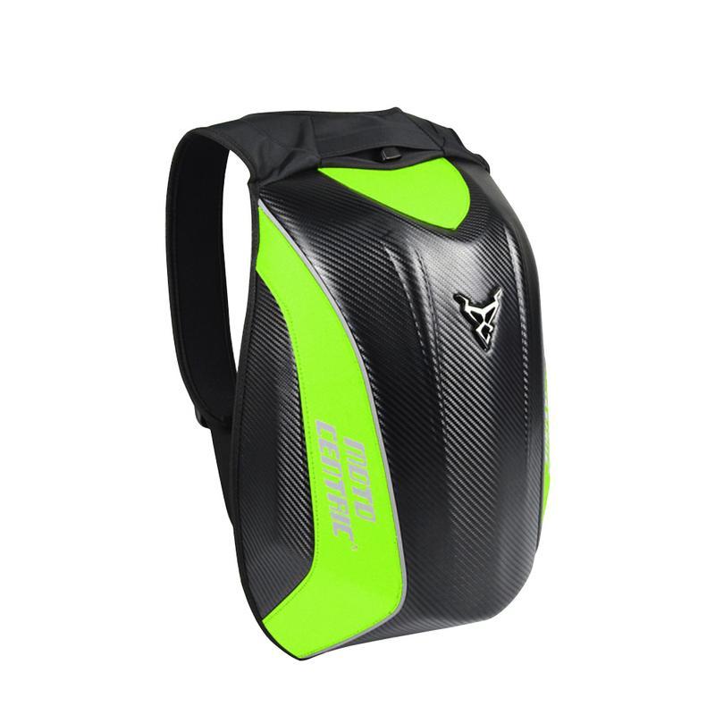 New Carbon fibre sac à dos de Moto sac de vélo MC Sac À Dos Rider Moto coquille rigide étanche Moto Tortue Sac