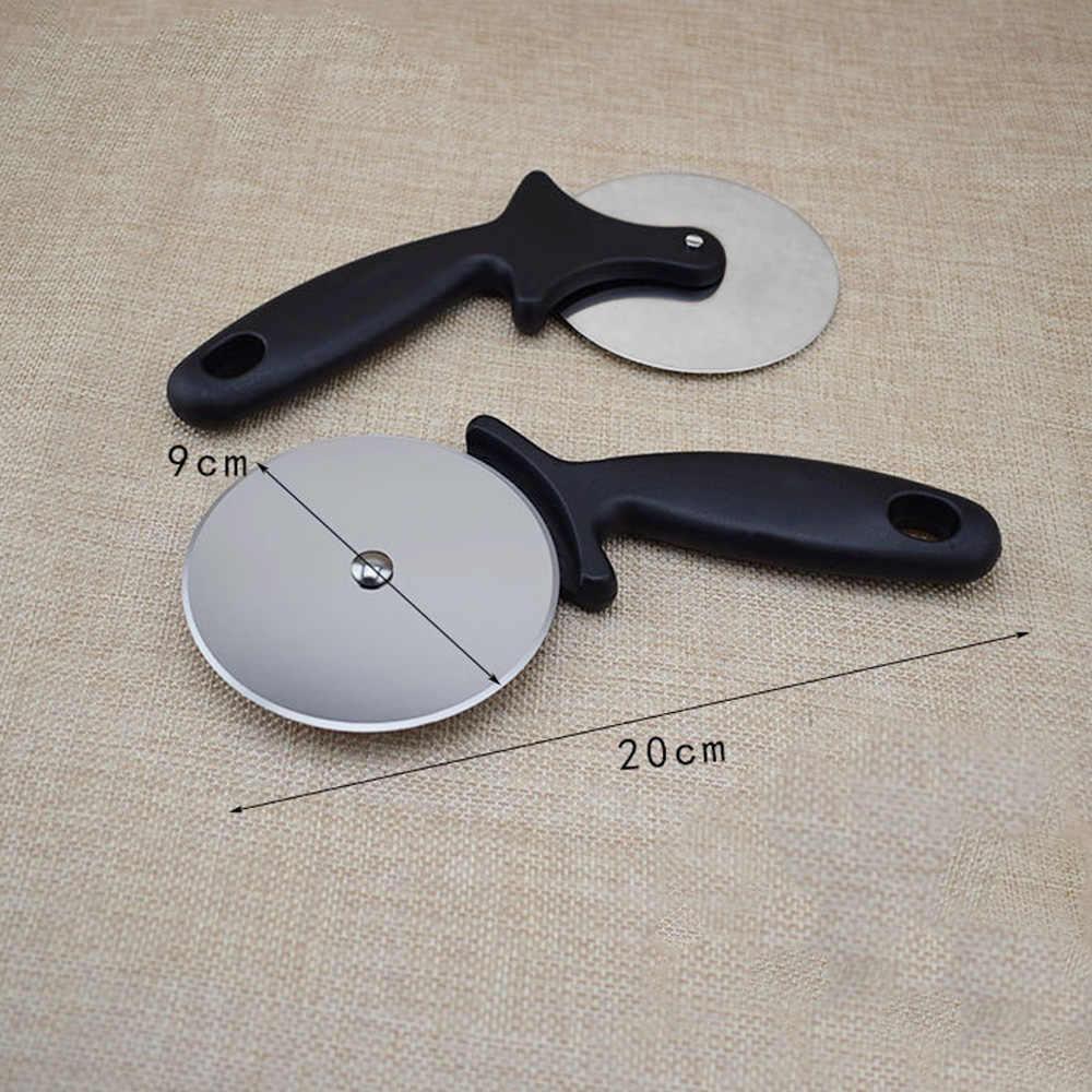 Rodillo cortador de Pizza con ruedas redondas de acero inoxidable para repostería herramientas de masa de nuevo estilo