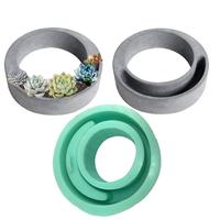Home Decoration Concrete Planter Pallet Silicone Mold Cement Flower Pot Molds DIY Clay Resin Craft