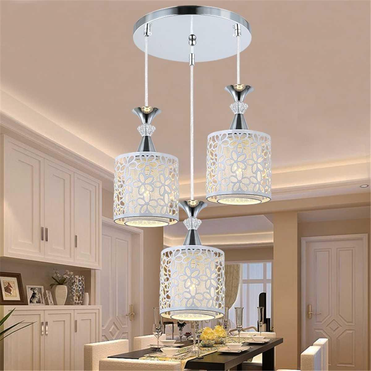 Lámparas LED de techo hechas cristal modernas para sala de estar y comedor