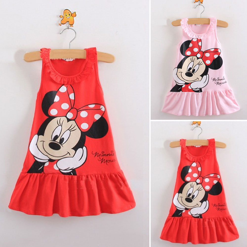 Mickey Mouse Dress For Baby Girl