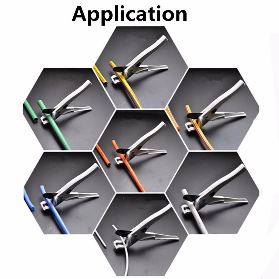 1pc Silvery Hose Conduit Cutting Plier Scissor Tool Abs Ppr Pe Pvc