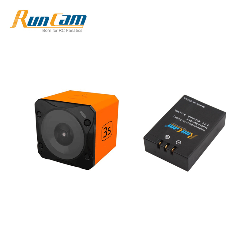 Runcam 3S WIFI 1080p 60fps WDR 160 Degree FPV Action Camera + 3.7V 850mAh 3.14Wh Li-ion Battery for RC Racing Drone