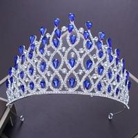 Gothic Large Tiara Rhinestone Hollow Queen Crown Headband Hair Jewelry for Wedding Bridal Beaded Headdress Women Hairband Gifts
