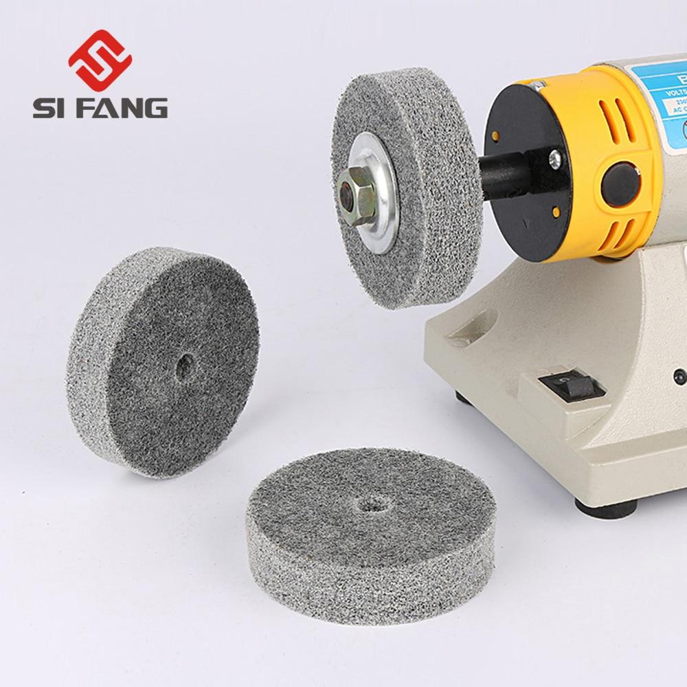 2//5pcs Nylon Scouring Flap Wheel 6mm Dia Shank Abrasive Polishing Rotary Tool