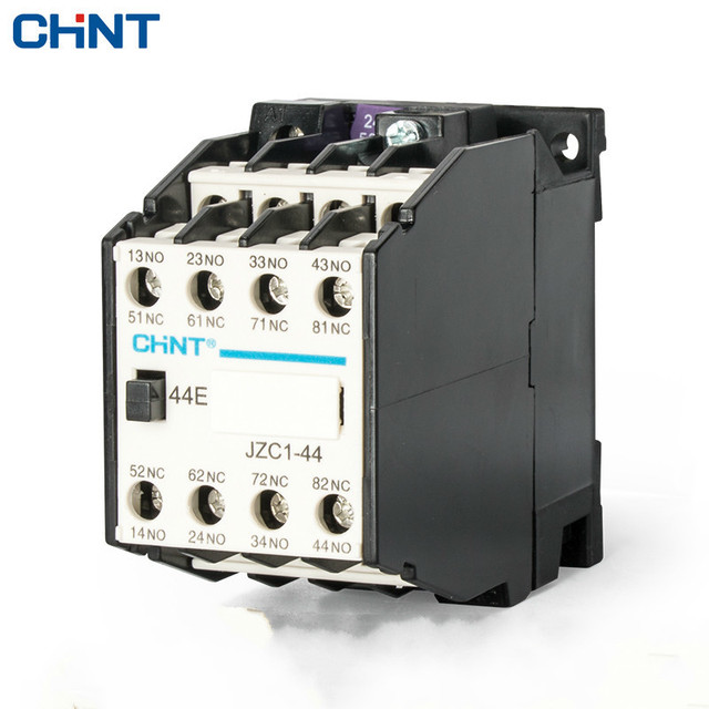 CHINT Contactor Relay Contact Type Relay JZC1 44 Middle Relay AC220V 4 Open 4 Close