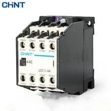 CHINT قواطع تتابع نوع الاتصال تتابع JZC1 44 التتابع الأوسط AC220V 4 فتح 4 إغلاق