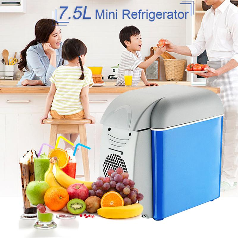 7.5L Mini Portable Cooling Warming Refrigerators Fridge Freezer Cooler Travel Warmer For Auto Car Home Office Outdoor Picnic Tra