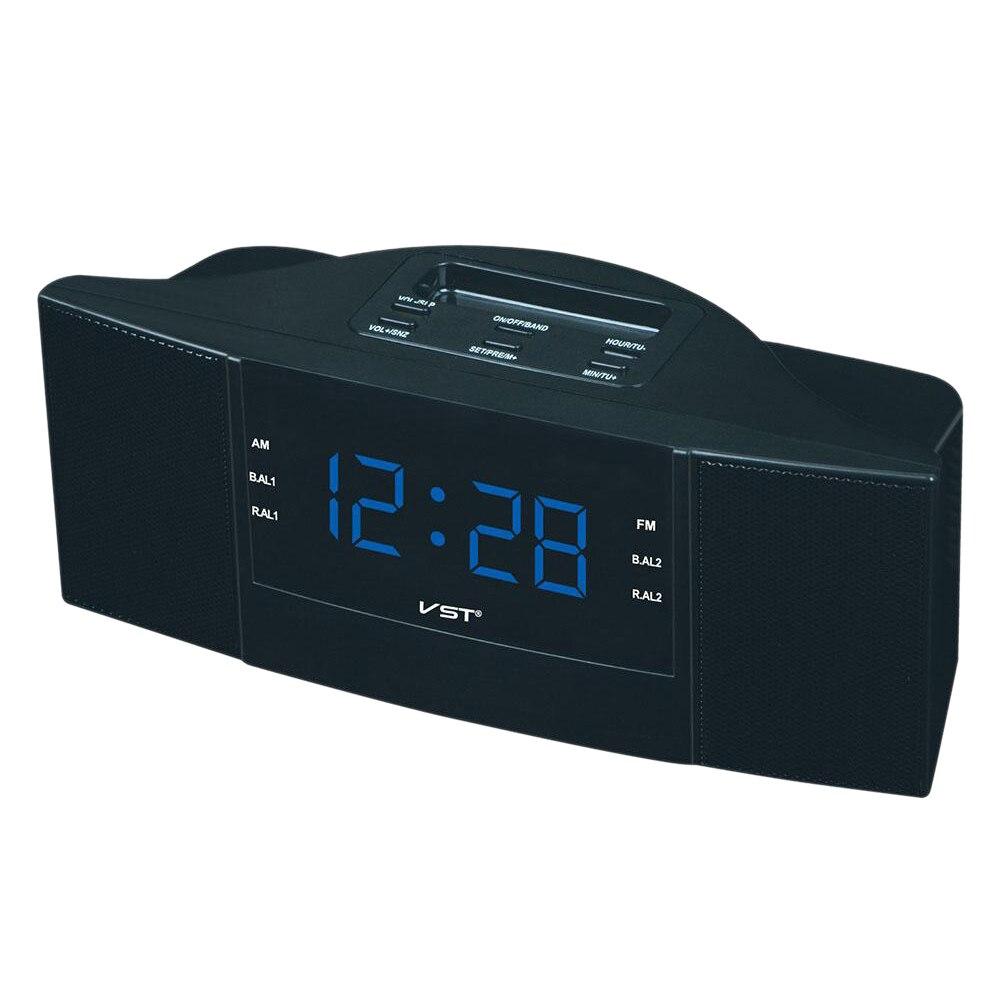 Vst-907 Exquisite Dual Band Sono Alarme Relógio Am/Fm Rádio Com Display Led Ficha Europeia