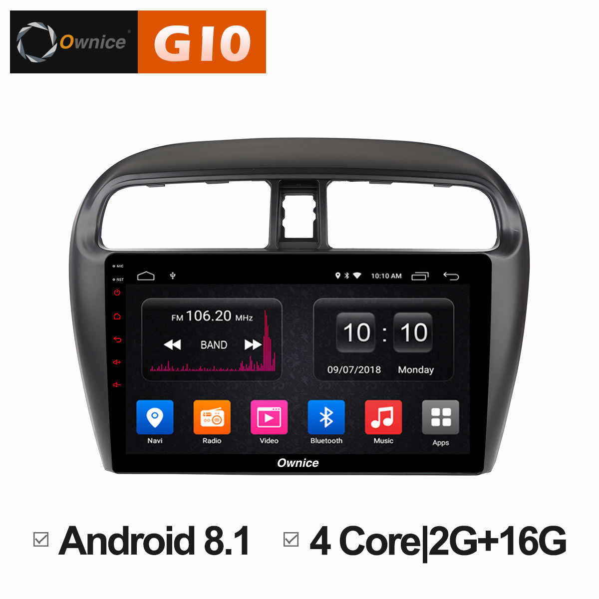 Ownice C500 + G10 9 inch 8 Core 2G + 32G Android 8.1 Auto radio voor Mitsubishi Mirage GT G4 2014 2017 GPS navigatie 4G LTE carplay