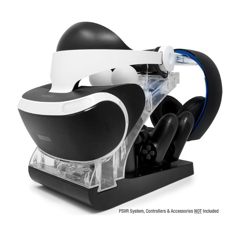 Station de chargement multi-fonction vitrine Station de chargement support de présentoir contrôleur de chargement Dock pour PS VR PS4 PS déplacer contrôleur nouveau
