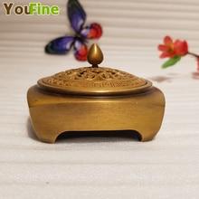 Small square hollow incense burner Chinese retro style interior decoration aroma ornaments home art