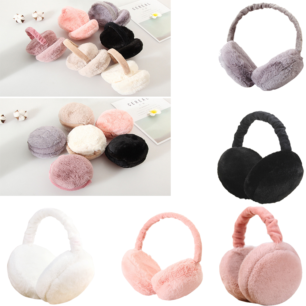 Foldable Cute Hamburger Earmuffs Ear Warmers Unisex Winter Warm Ear Covers