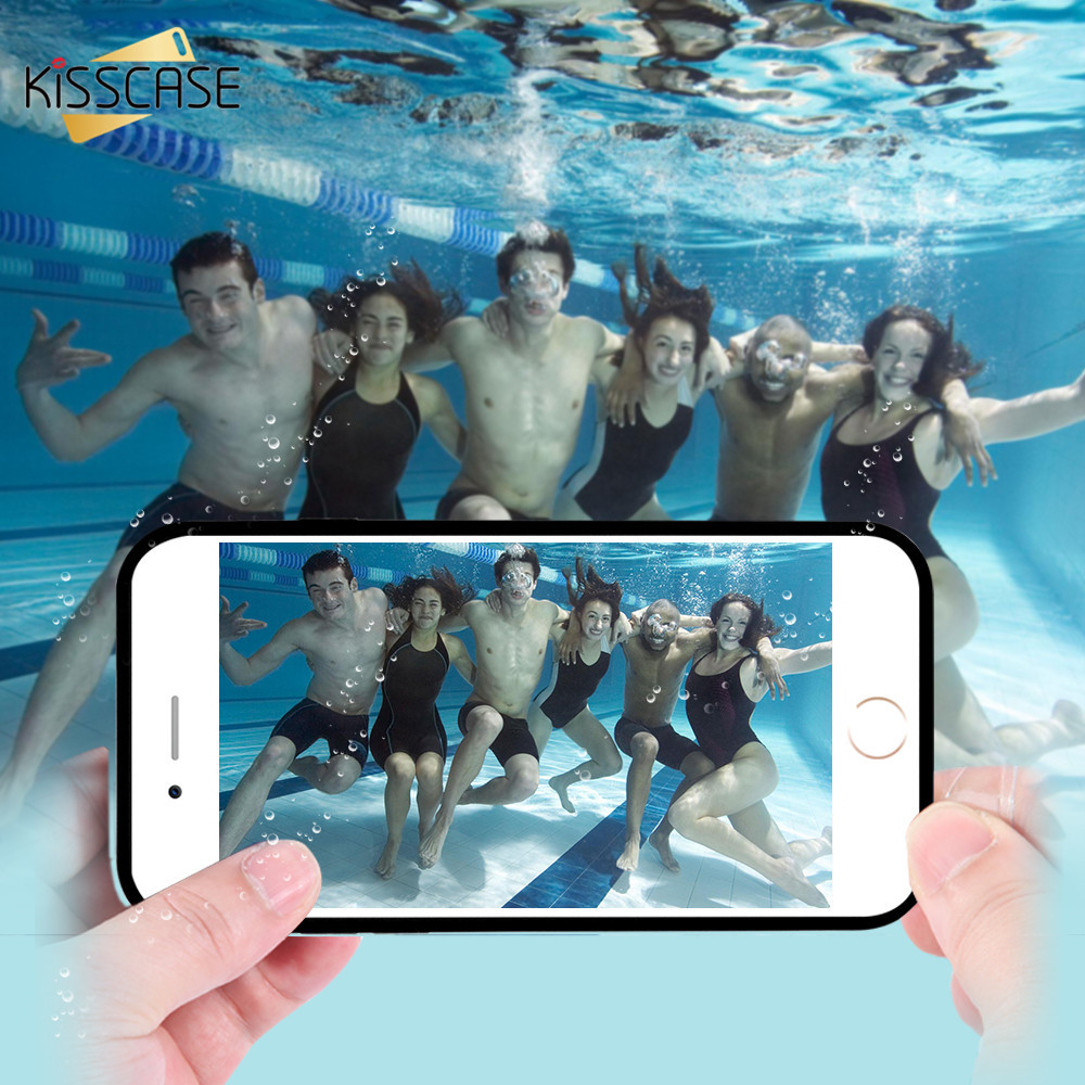 KISSCASE Waterproof Case For iPhone X XR XS MAX 360 Degree Full Protection Phone Case For iPhone 8 7 6 6s Plus 5 5s SE Cover in Fitted Cases from Cellphones Telecommunications