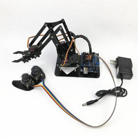 Domibot 4DOF DIY Robot Arm with Remote Control For PS2 Self Assemble with MG90s Servo for Arduino UN R3 Programming