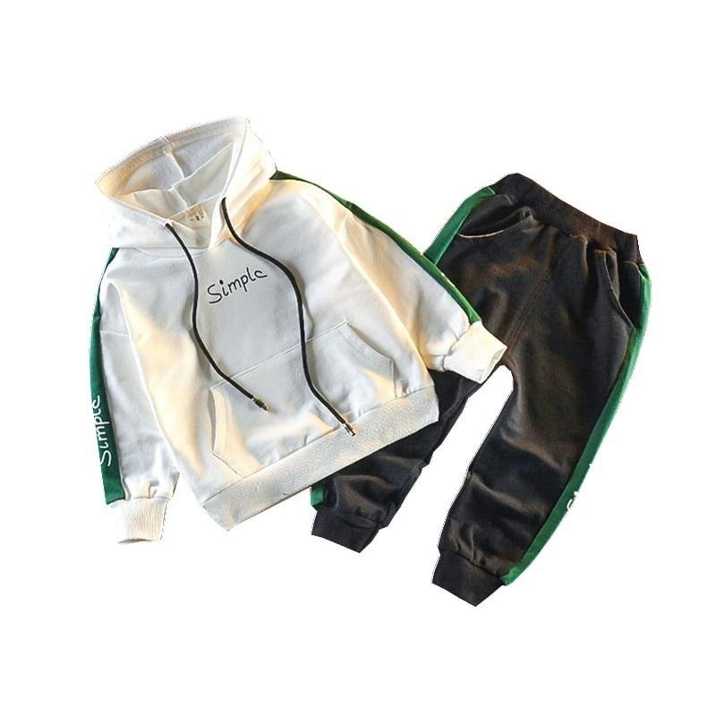 4bdce924c Primavera otoño niños conjuntos de ropa de algodón bebés niños niñas  sudaderas con capucha ...